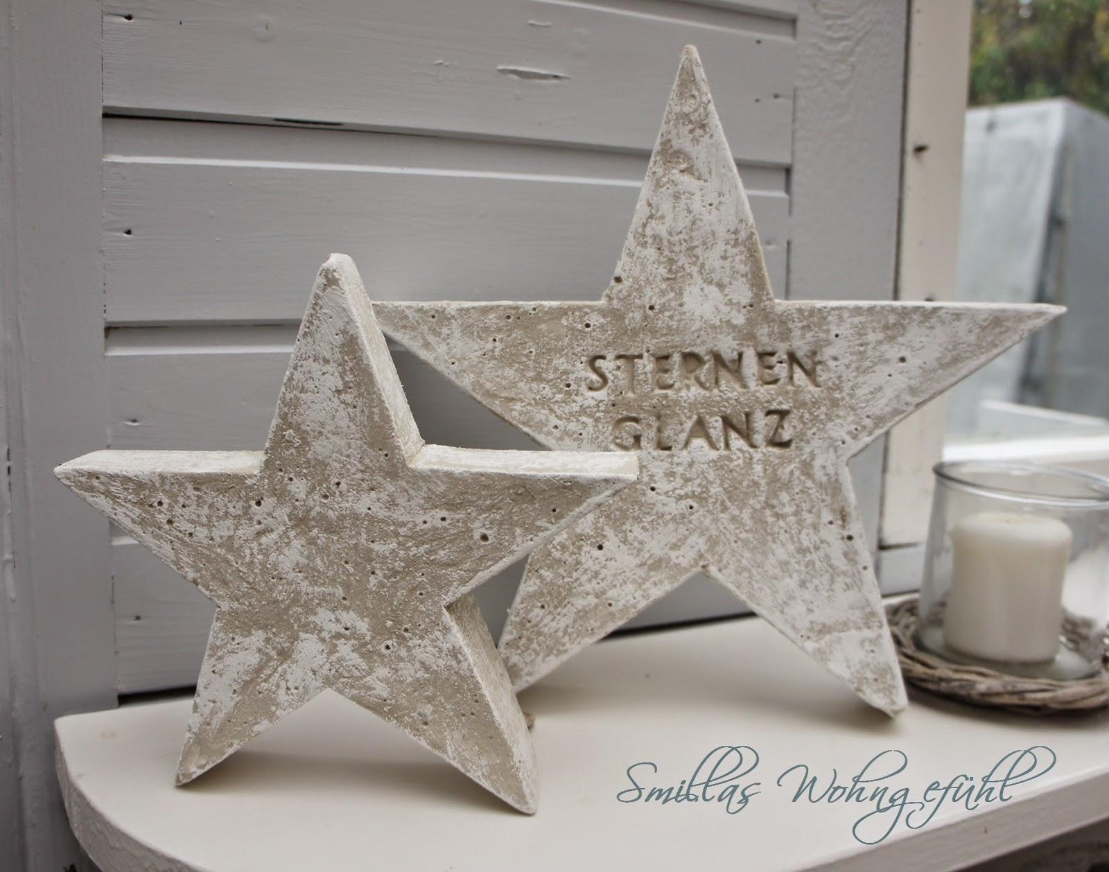 diy a star is born beton sterne smillas wohngef hl. Black Bedroom Furniture Sets. Home Design Ideas