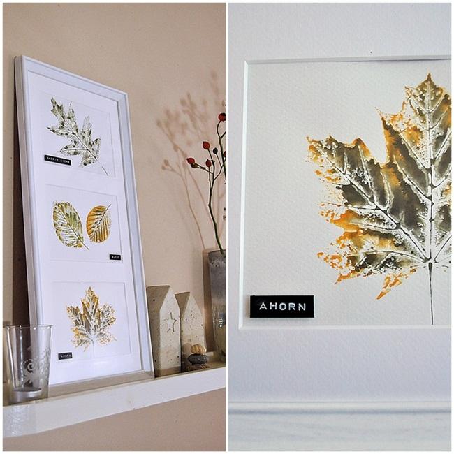 DIY Blätterdruck