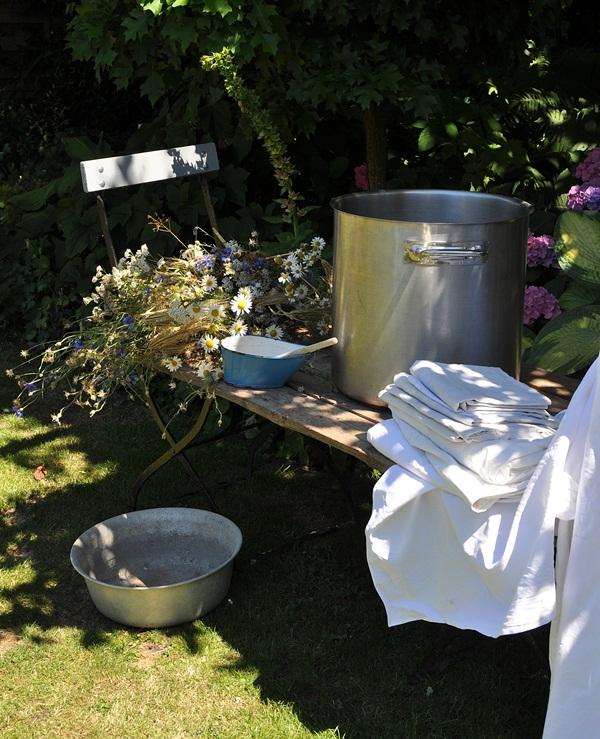 Garten Stoff farben ohne Chemie