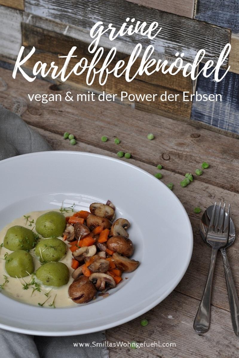 Kartoffel-Knödel vegan mit Erbsen