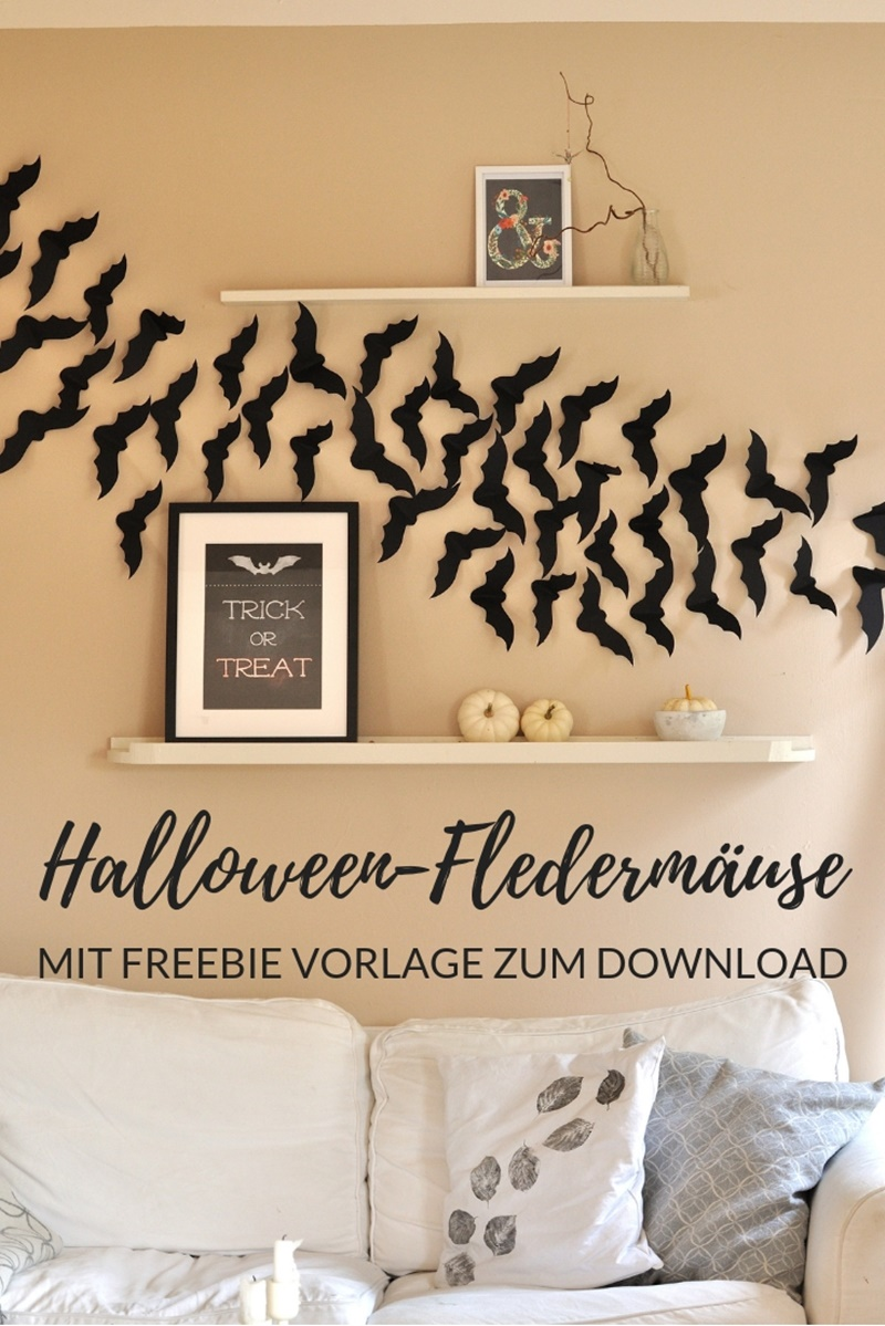 Fledermäuse aus Papier Halloween DIY