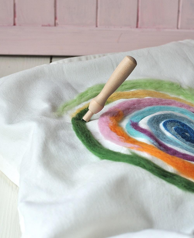 Muster filzen regenbogen Spirale