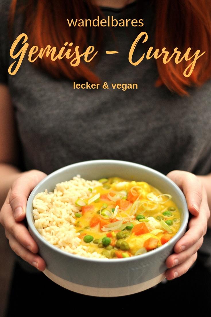 Gemüse Curry vegan