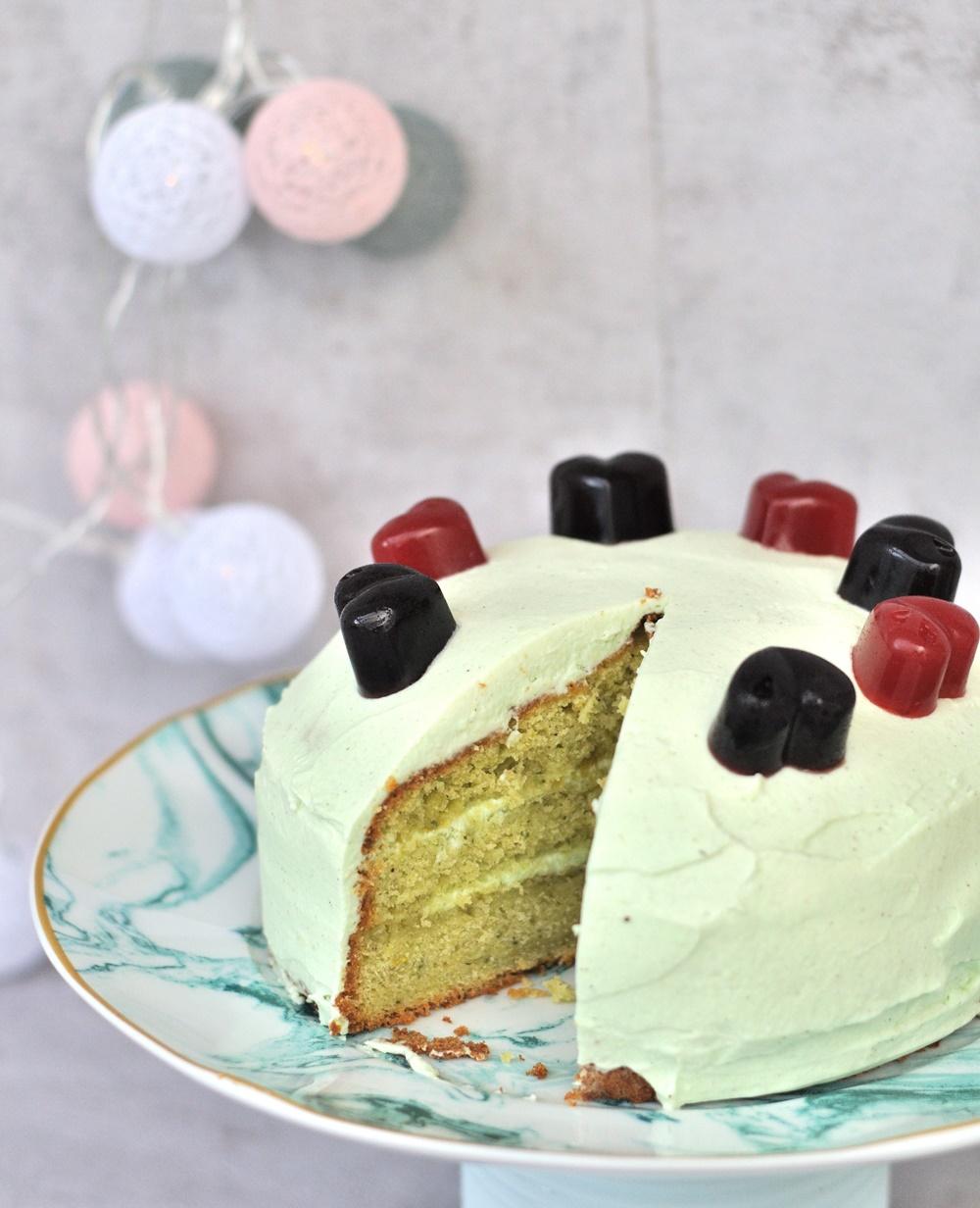 Zitronen Torte Mit Selbstgemachten Gelee Herzen Smillas Wohngefuhl
