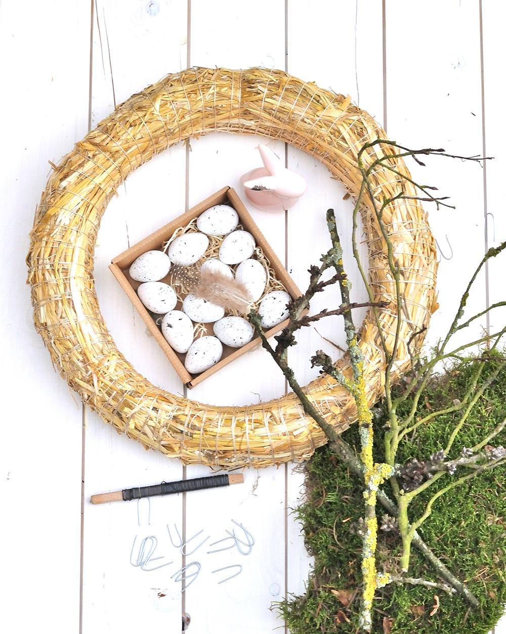 Frühlings Kranz binden Material