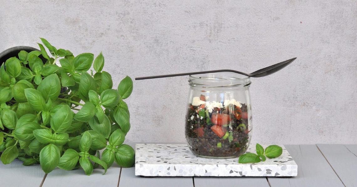 schwarzer Linsen-Salat Smillas Wohngefuehl