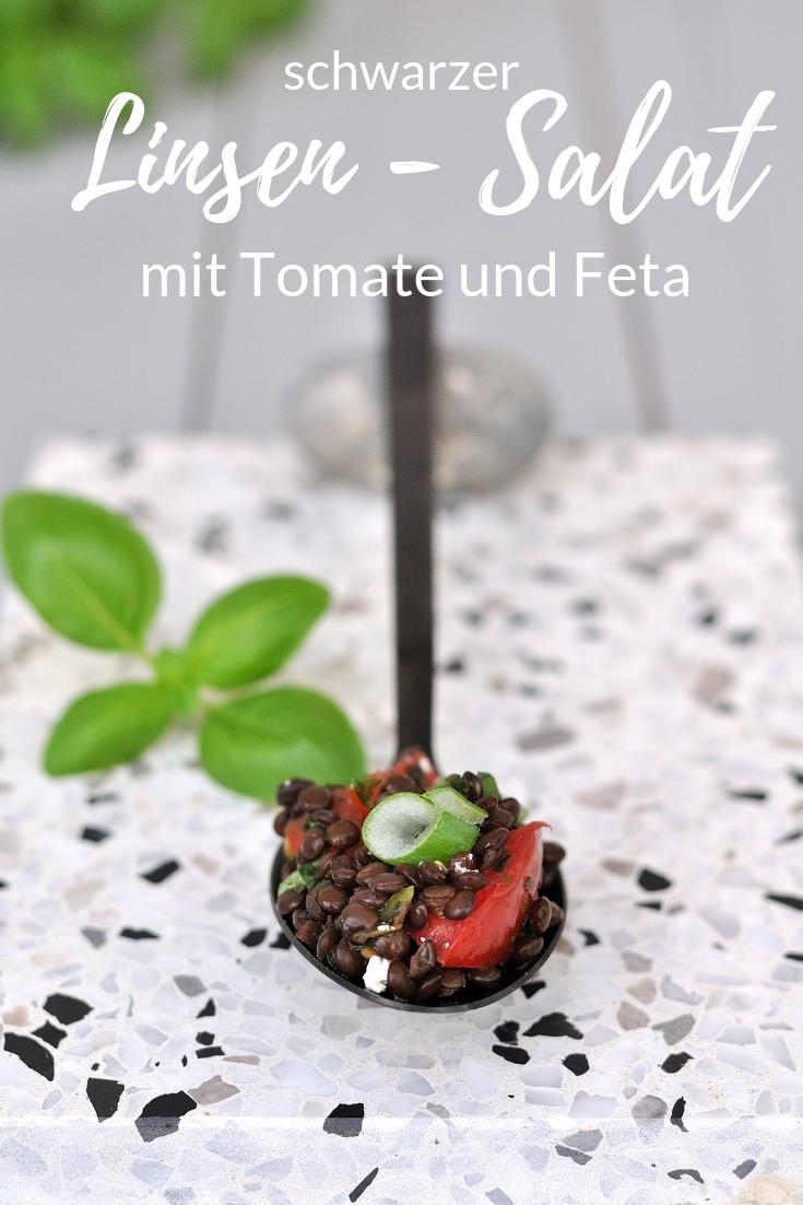 schwarzer Linsen Salat Smillas Wohngefuehl