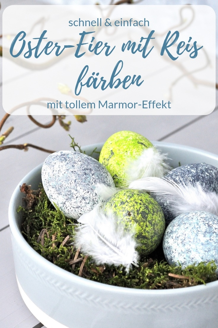 Oster Eier färben mit Reis DIY