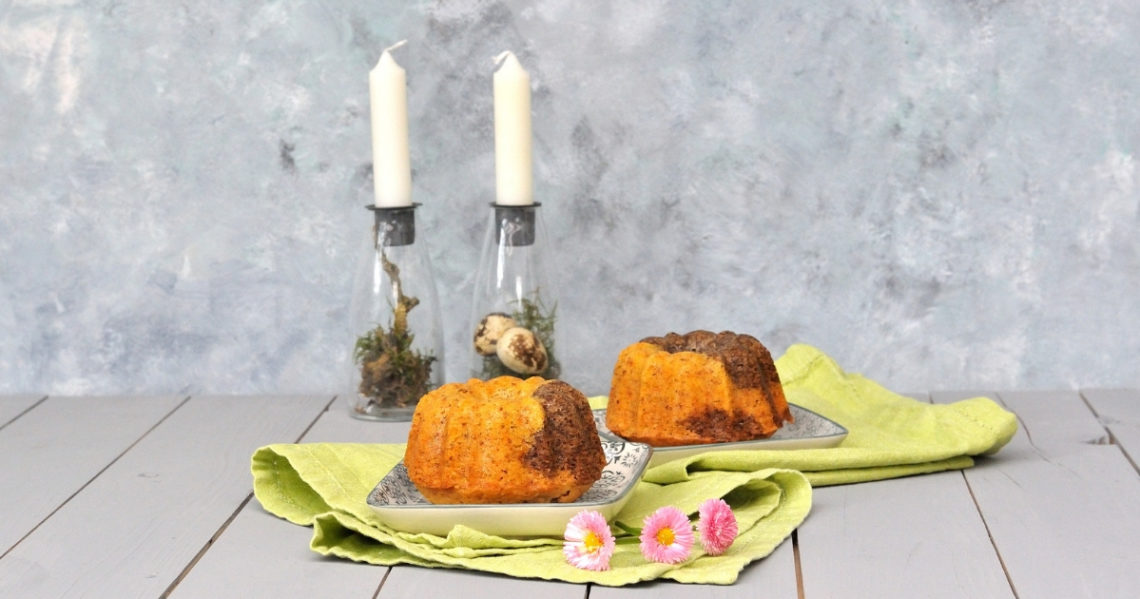 Karotten Mamorkuchen mit Mohn und Eierlikör