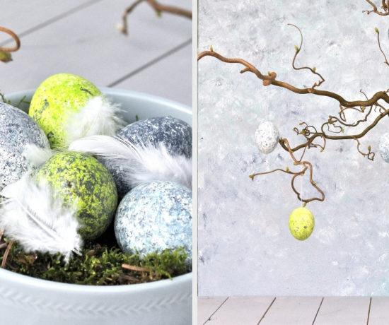 Eier mit Reis färben Anleitung DIY