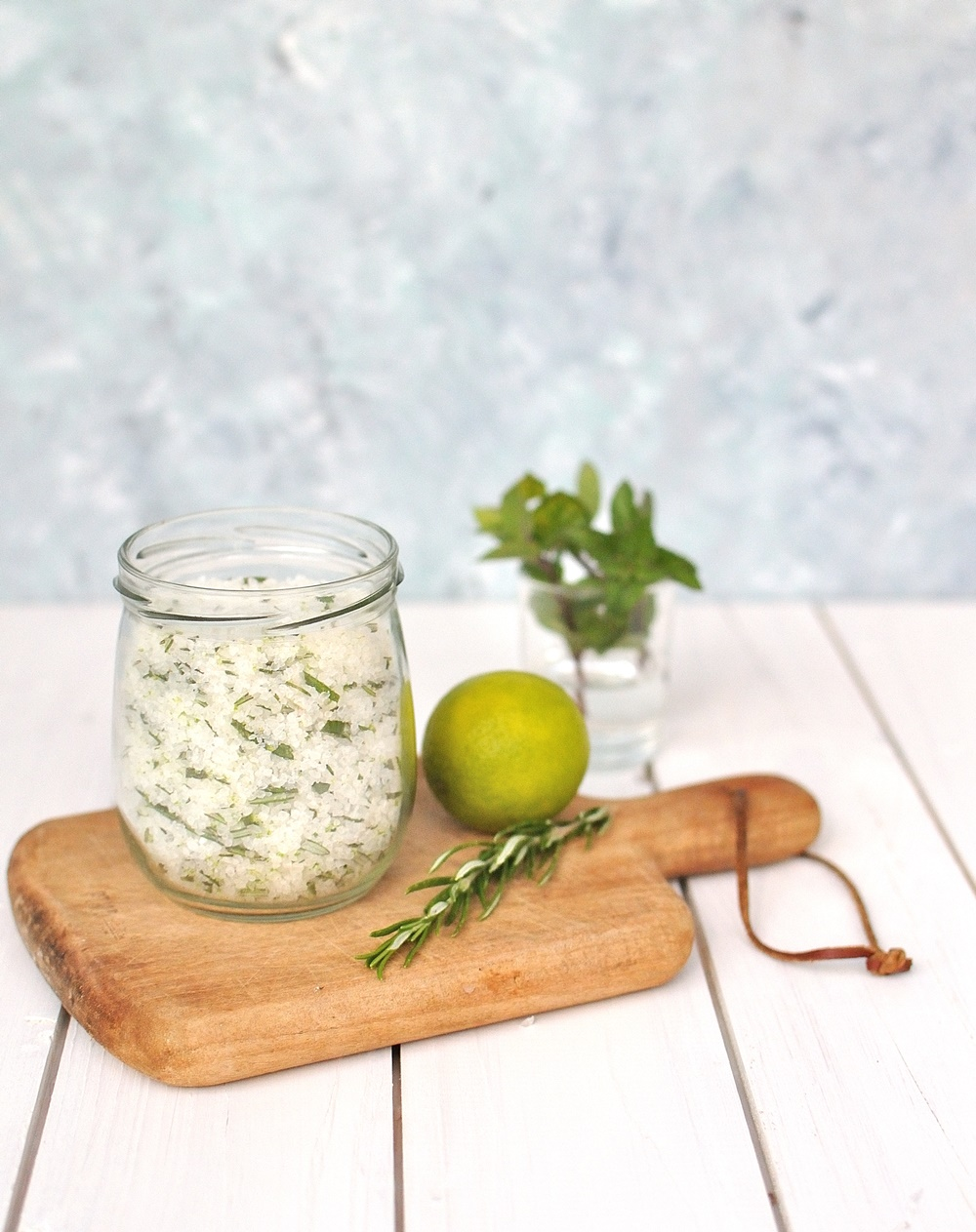 Rosmarin Salz im Glas