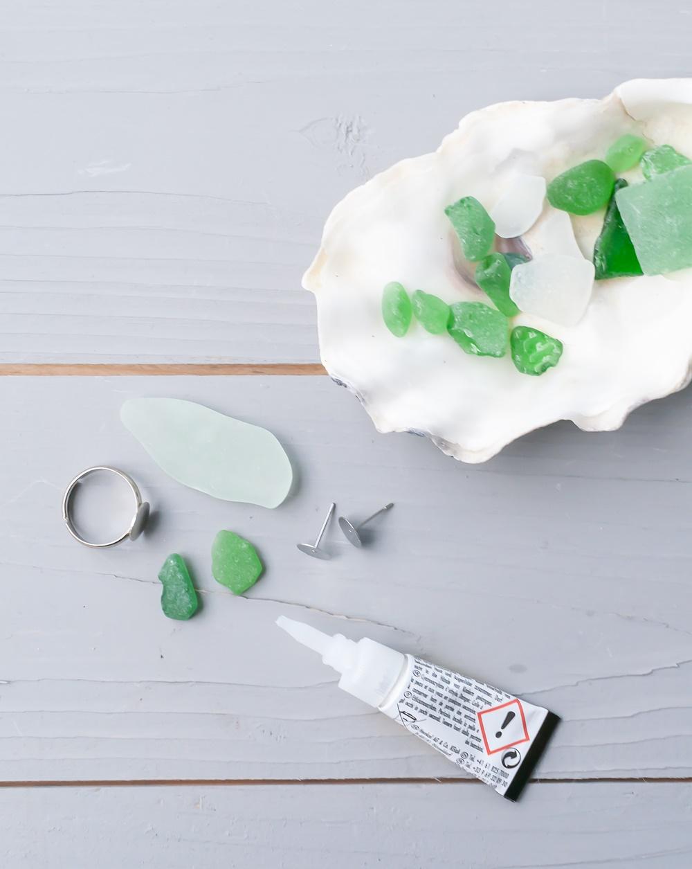Strandglasschmuck Material