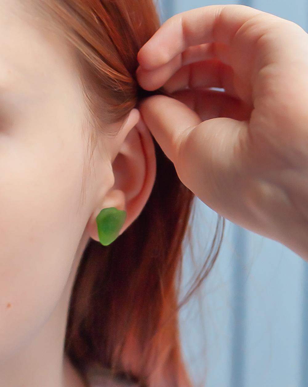 Schmuck aus Strandglas Ohrringe