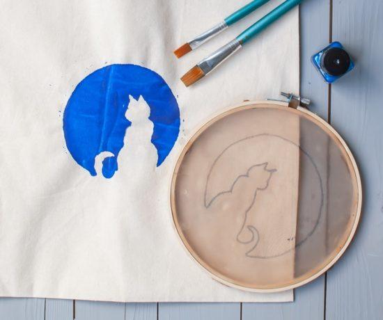 Siebdruck DIY mit Stickrahmen