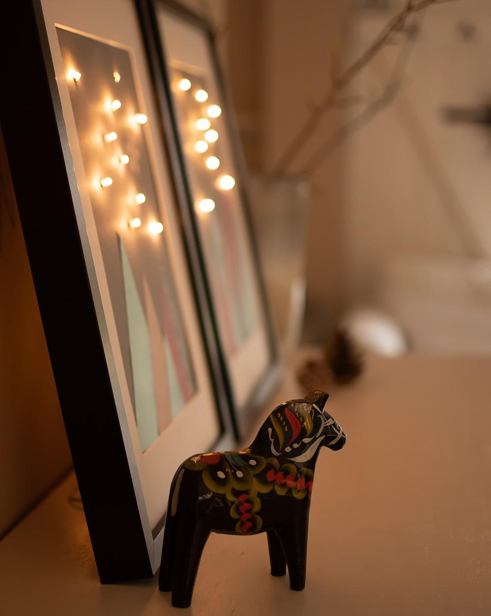 Bild mit Lichterkette
