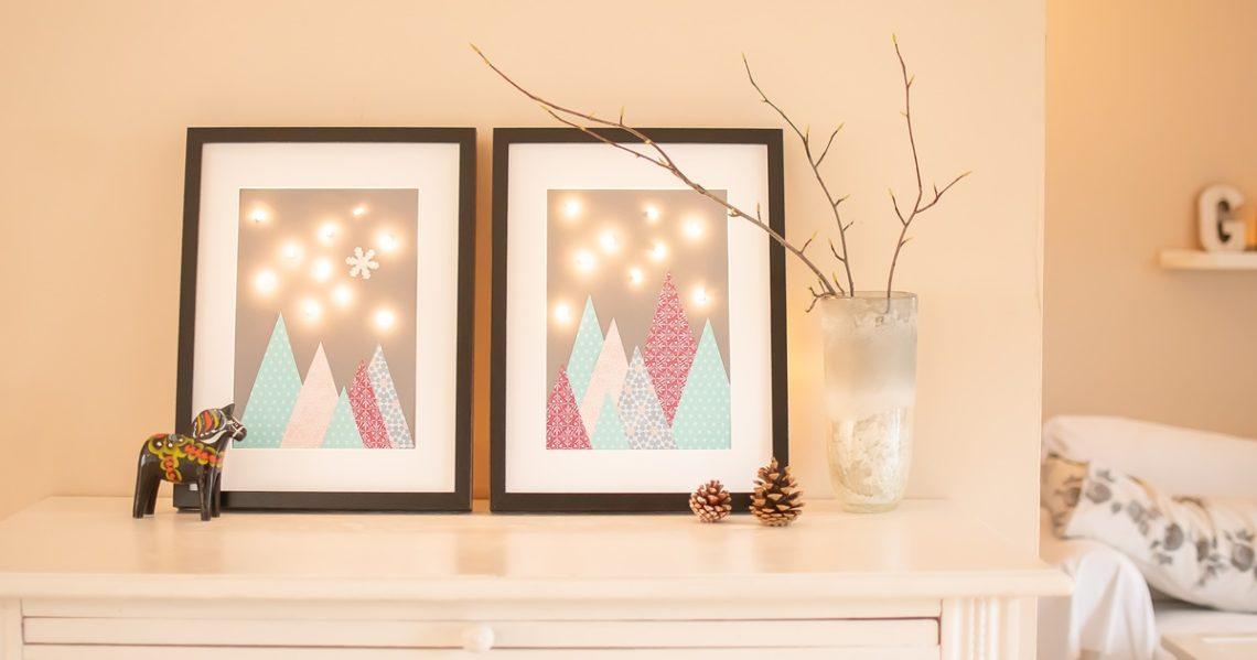 Bild mit Lichterkette DIY