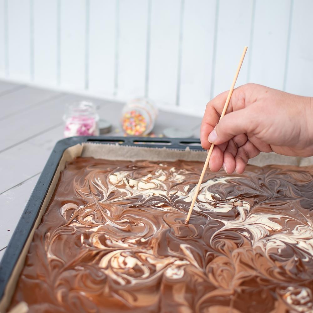 Bruchschokolade aus dem Backofen