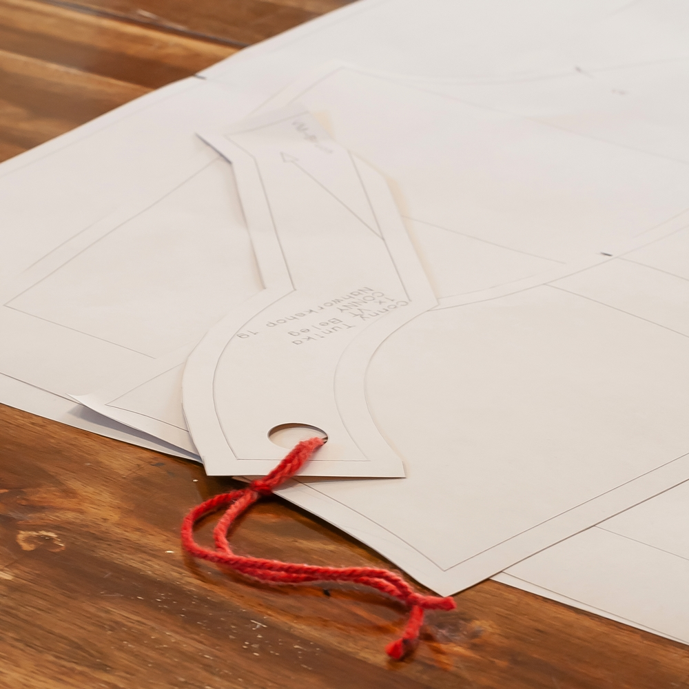 Schnittmuster auf Papier