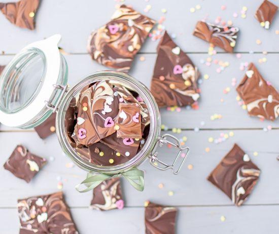 Bruchschokolade selber machen im Backofen