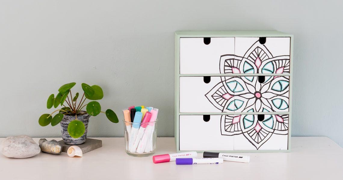 IKEA Hack Moppe Kommode mit Pintor Stiften