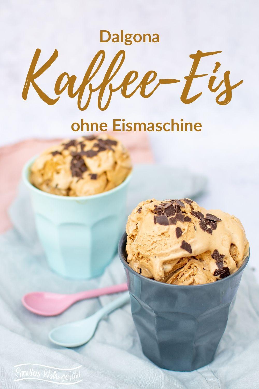 Dalgona Kaffee Eis ohne Eismaschine