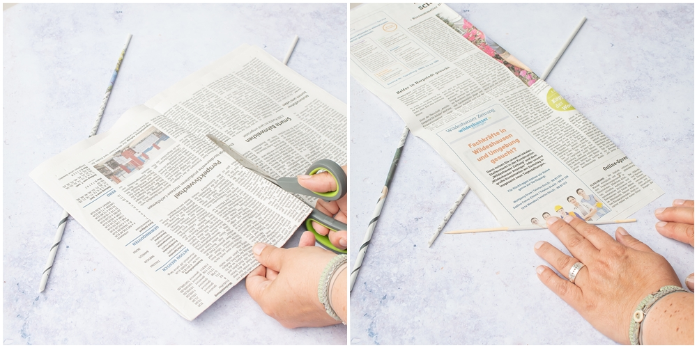 Zeitungen zerschneiden