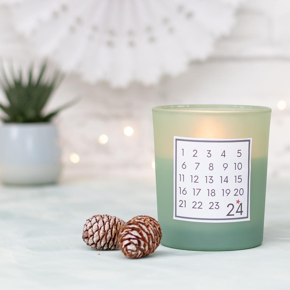 DIY Adventskalender Kerzenglas