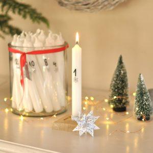 DIY Adventskerzen für jeden Tag