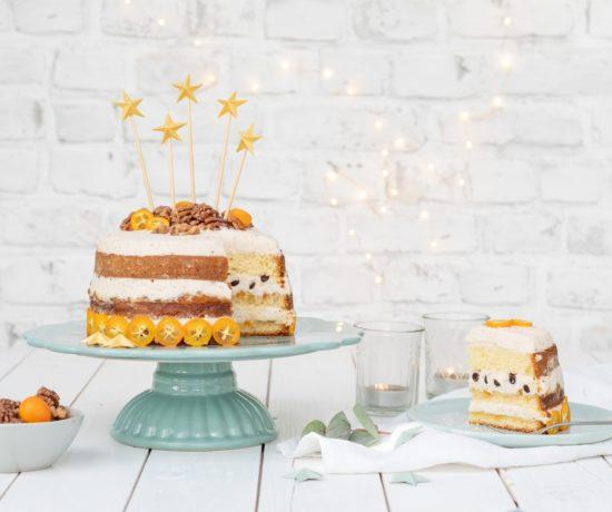 naked Cake mit DIY Cake Topper