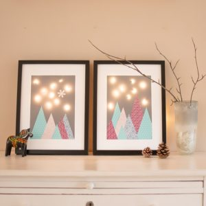 Weihnachtsbild mit Lichterkette