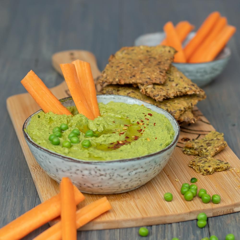Erbsen Hummus vegan