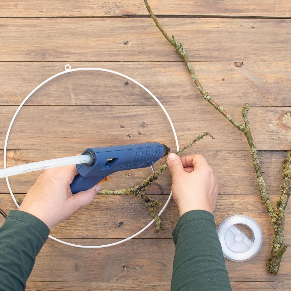 Wanddeko selber machen Anleitung