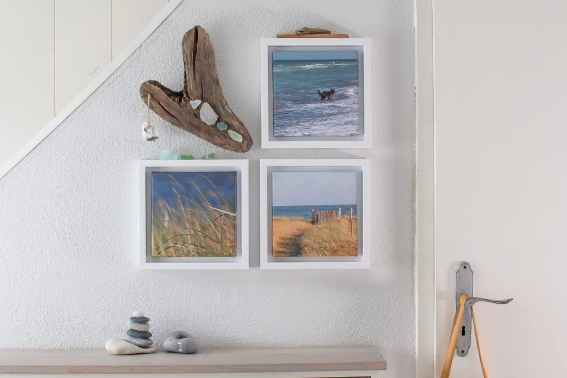 Fotoleinwand und Treibholz DIY