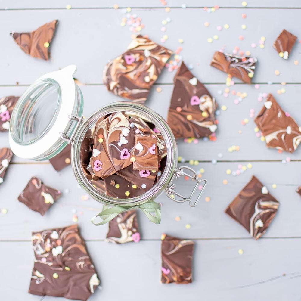 Bruchschokolade DIY Geschenk für den Muttertag