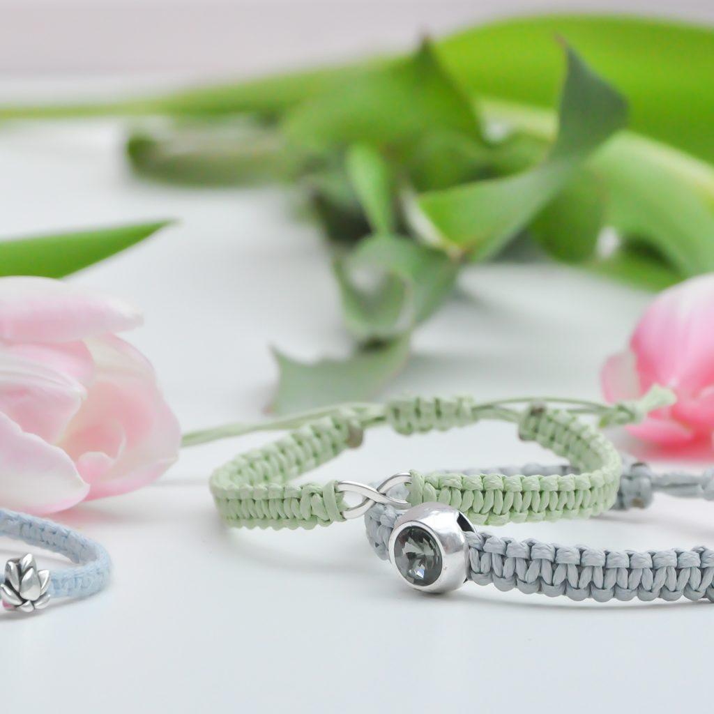 DIY Makramee Armband DIY Geschenk für den Muttertag