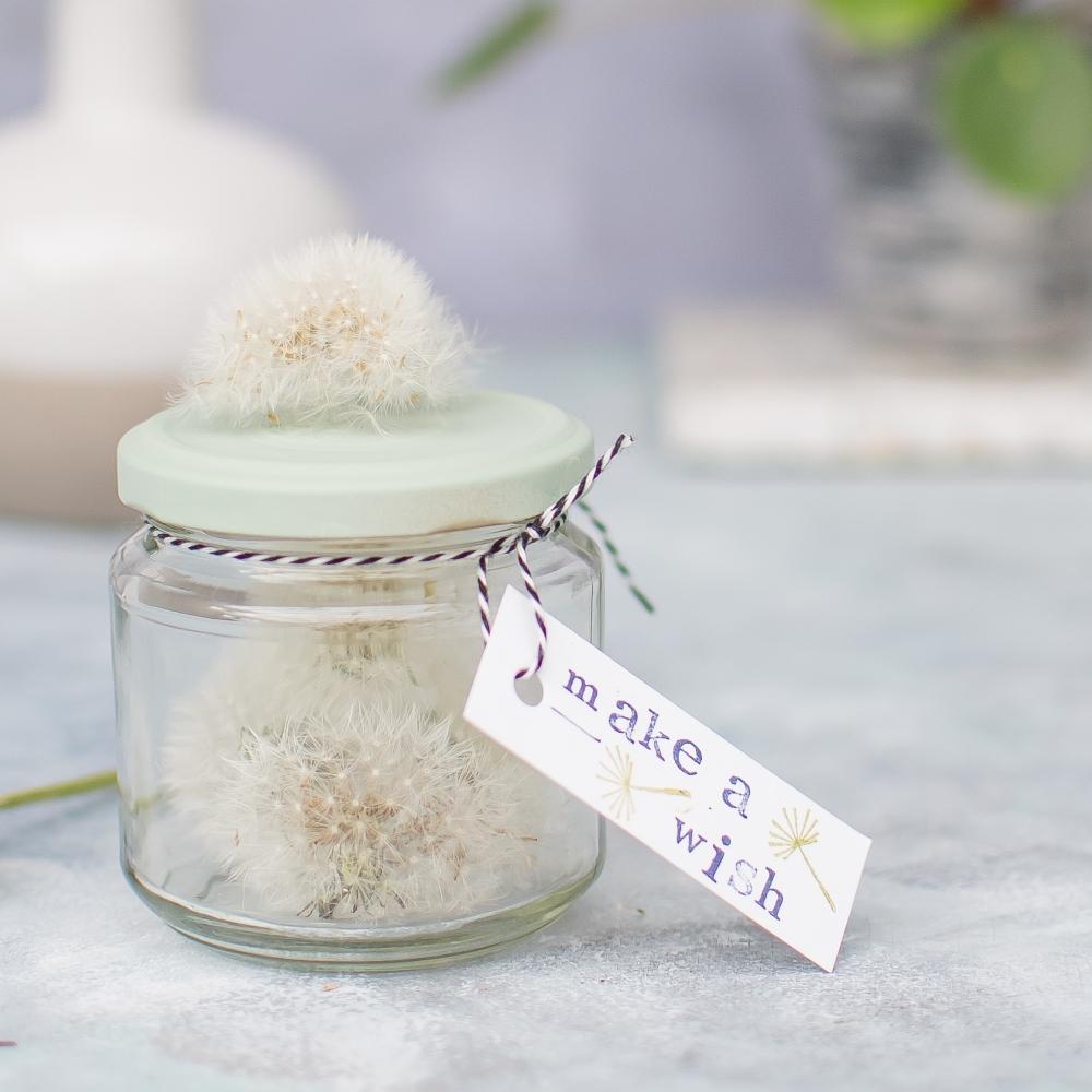 Pusteblume haltbar machen DIY Geschenke für den Muttertag