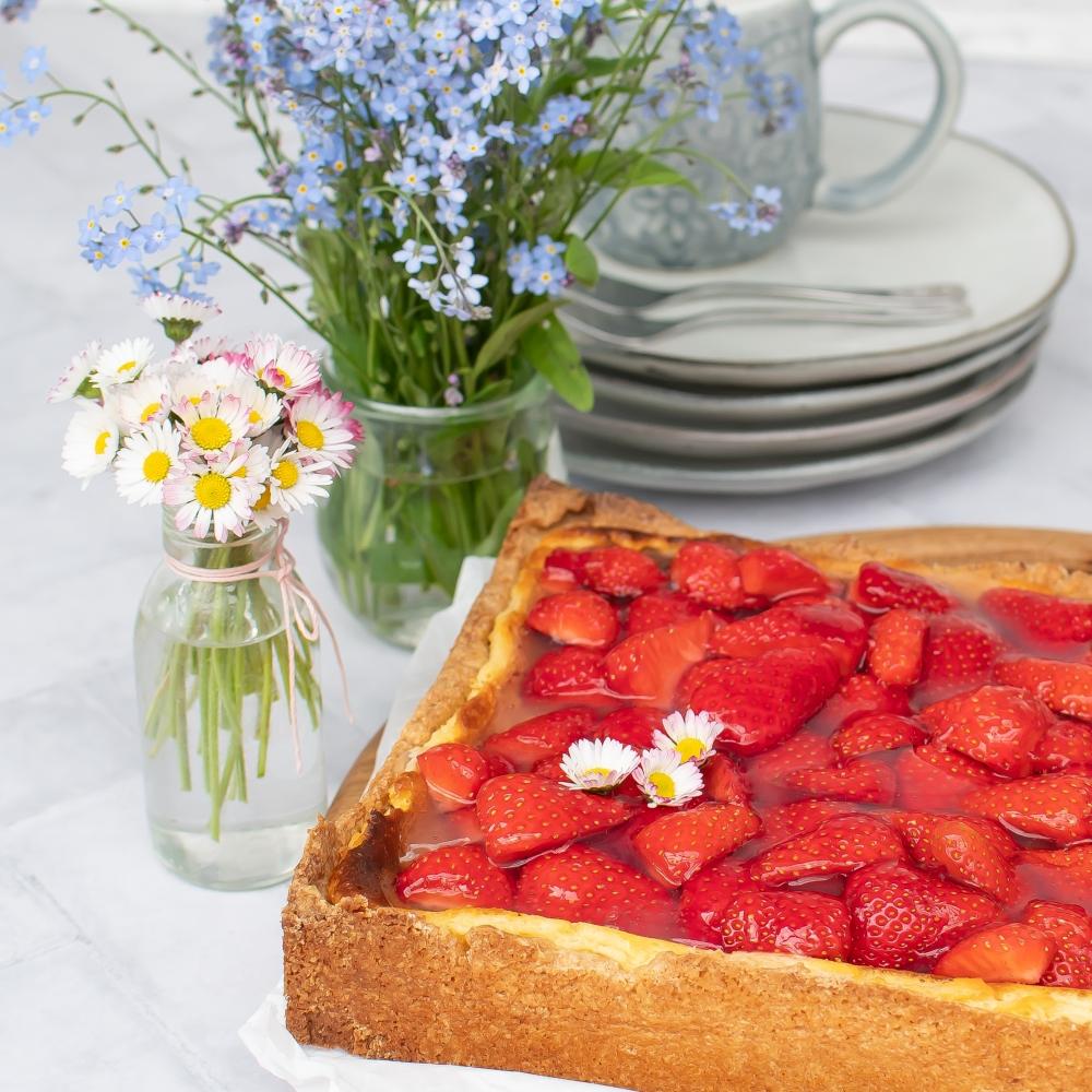 Erdbeer Käsekuchen vom Blech