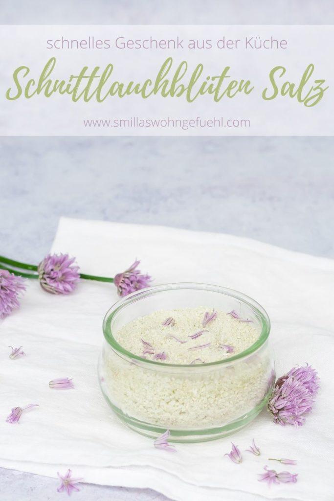 Pin Schnittlauchblüten Salz