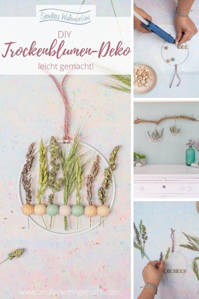 Gräser und Trockenblumen dekorieren Anleitung