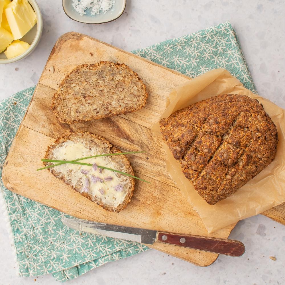 belegtes Eiweiß Brot vegan